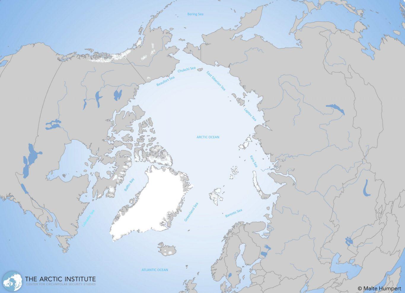 Kart: The Arctic Institute