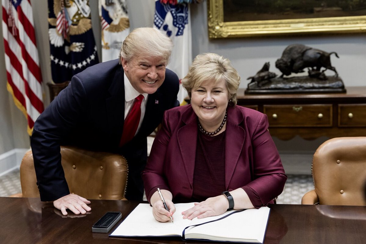 President_Donald_Trump_and_Prime_Minister_Erna_Solberg;_January_2018