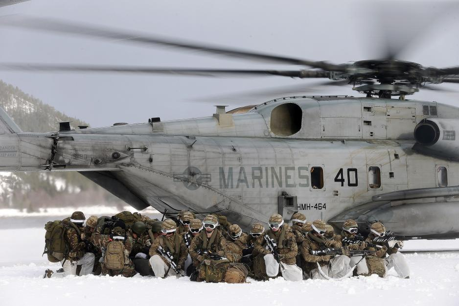 US Marines exercising in North Norway. Photo: Torbjørn Kjosvold / Forsvaret