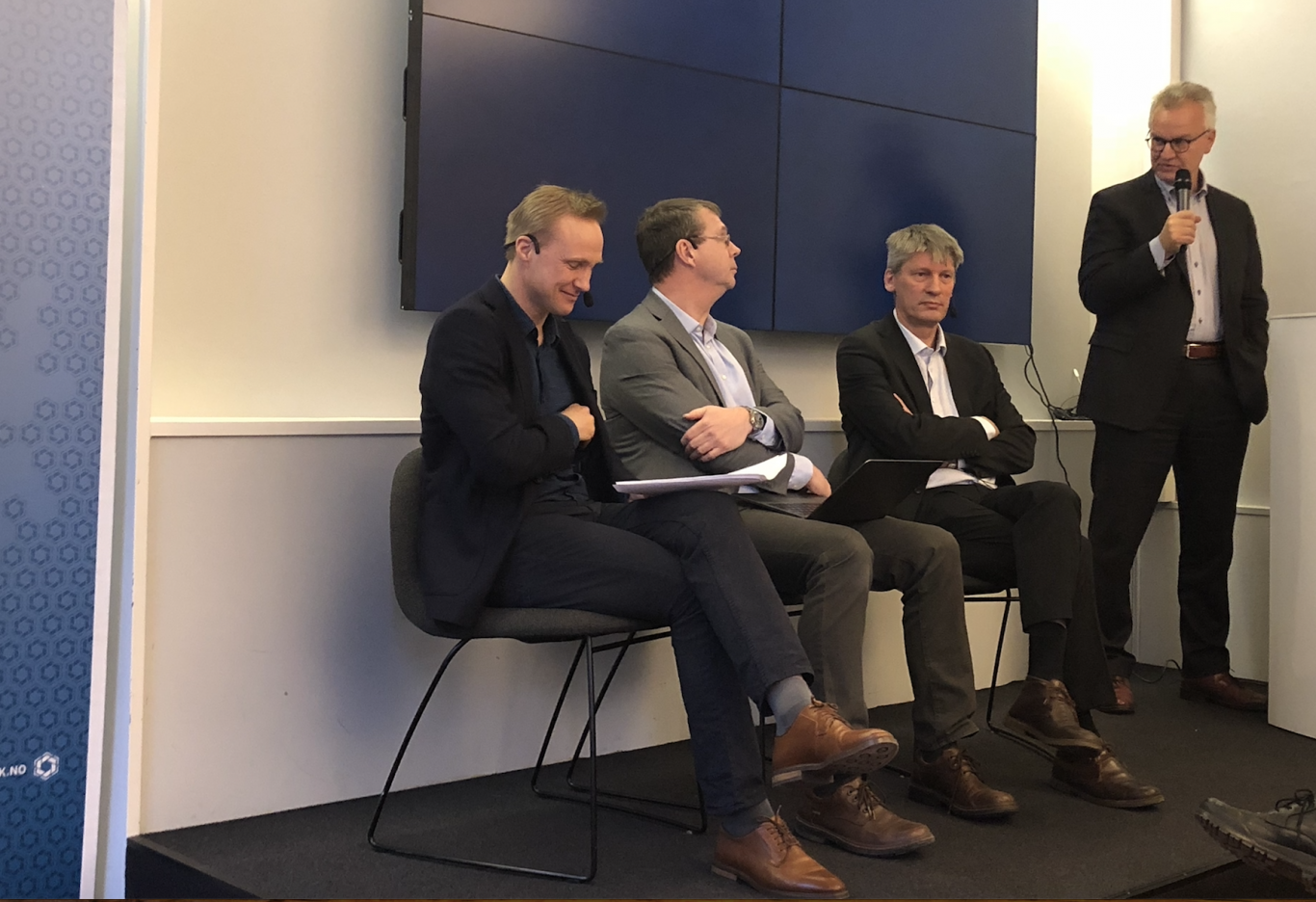 Panelsamtale om ny LTP. Fra venstre: Tormod Heier, Knut Støvne, Sigurd Glærum og Kristian Berg Harpviken. Foto: UTSYN