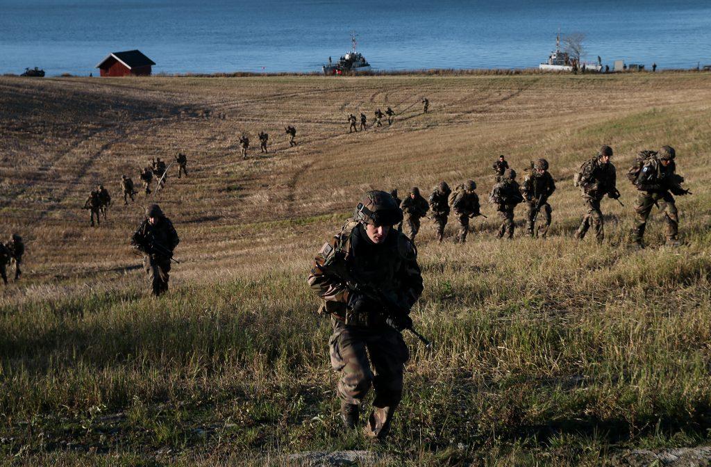 Franske soldater under øvelse Trident Juncture 2018 i Norge. Foto: Torbjørn Kjosvold / Forsvaret