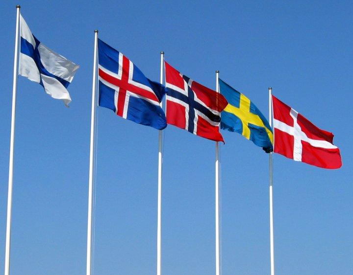 Nordiske flagg. Foto: Wikimedia Commons.