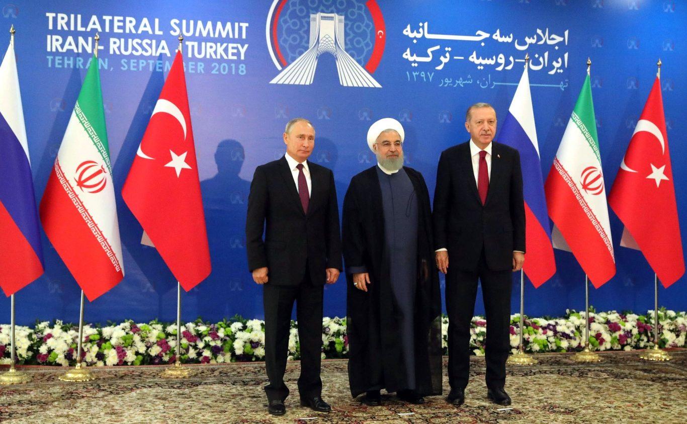 Møte mellom Russland, Iran og Tyrkia i september 2019. Foto: Wikimedia Commons