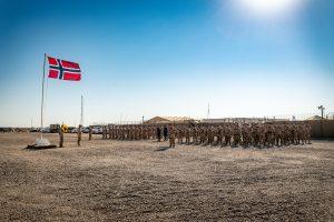 Soldater fra Norwegian Task Unit i Al-Assad, Irak, 2016. Foto: Ole-Sverre Haugli/Forsvaret