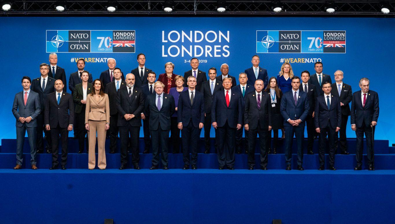 Statslederne i NATOs medlemsland under toppmøtet i London i desember 2019. Foto: NATO.