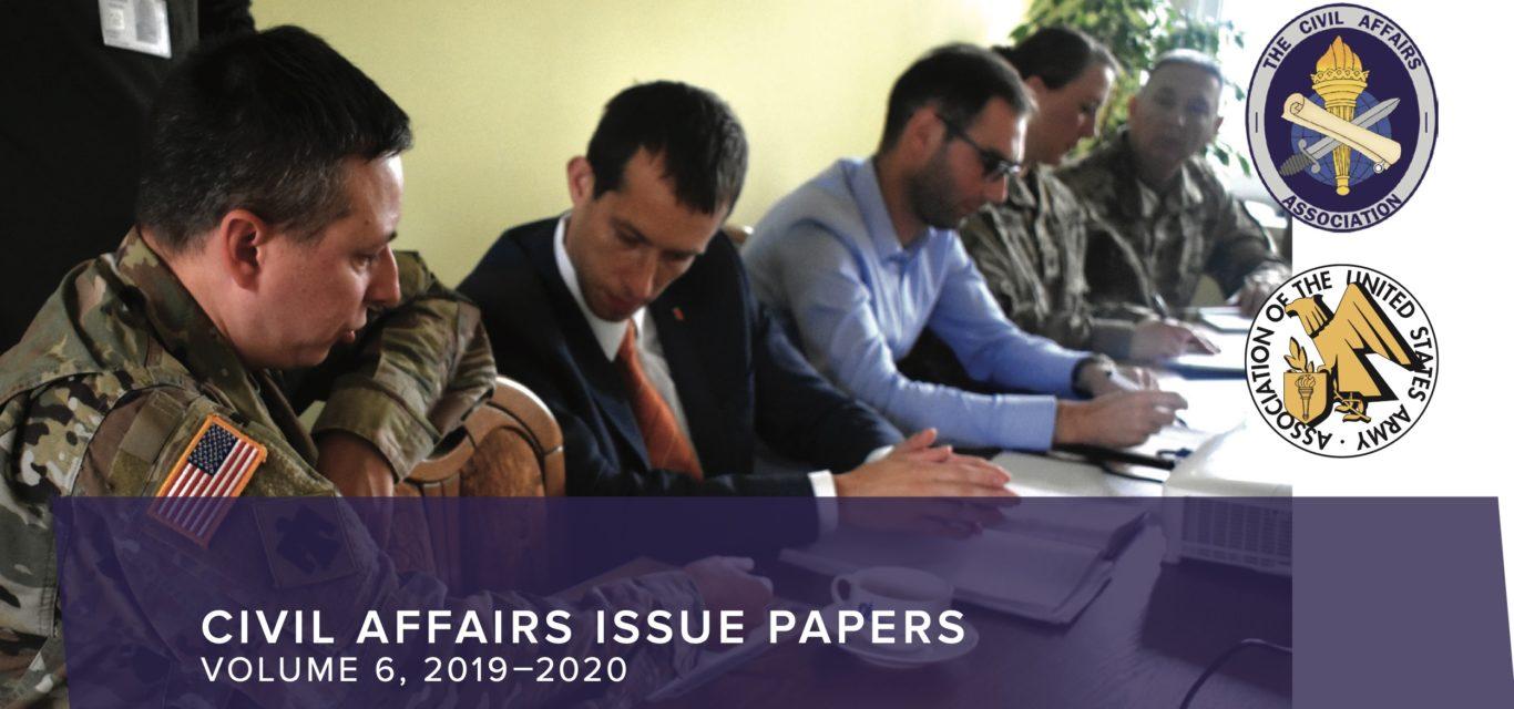 Screenshot of the Civil Affairs Issue Volume 6.