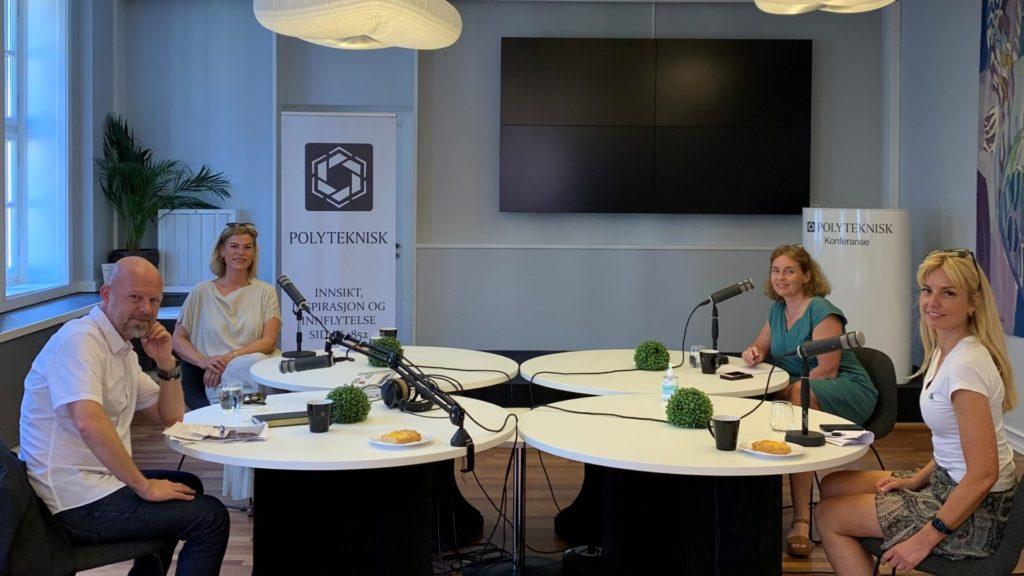 Ørjan Karlsson, Jette Christensen, Mette Vågnes Eriksen og Ingvild Næss. Foto: Polyteknisk Forening.