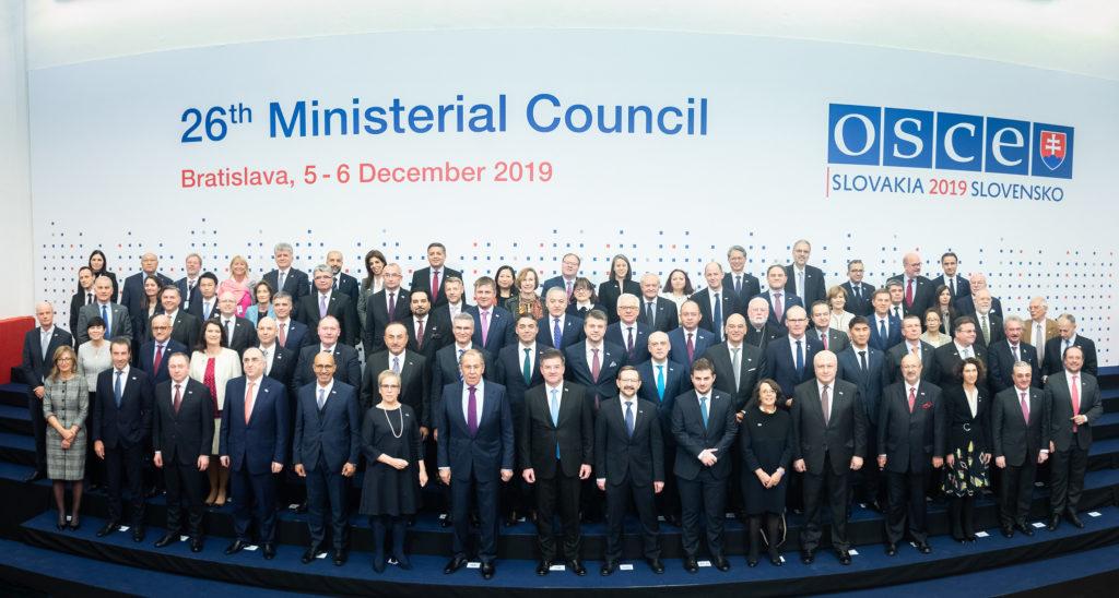 Ministerrådsmøte i OSSE, i desember 2019. Foto: OSCE/Flickr