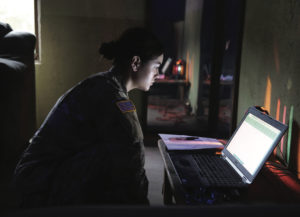 A student assigned to the U.S. Army John F. Kennedy Special Warfare Center and School conducts document digitization while attending the Special Operations Forces Site Exploitation Technical Exploitation Course (SOFSE TEC) on Fort Bragg, North Carolina, 22 October 2019. The SOFSE TEC enables operators to conduct specialized SOFSE activities designed to exploit sensitive-site materials (U.S. Army Photo by Staff Sergeant Keren-happuch Solano).