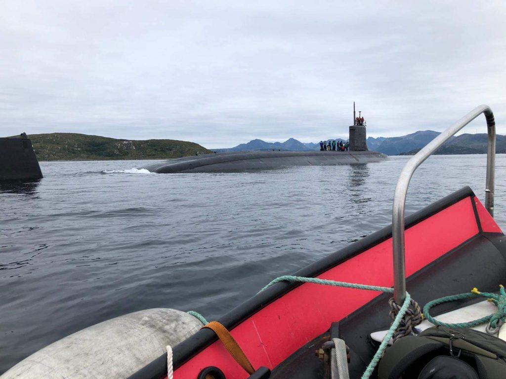 USS Seawolf utenfor Tromsø i august 2020. Foto: US Navy