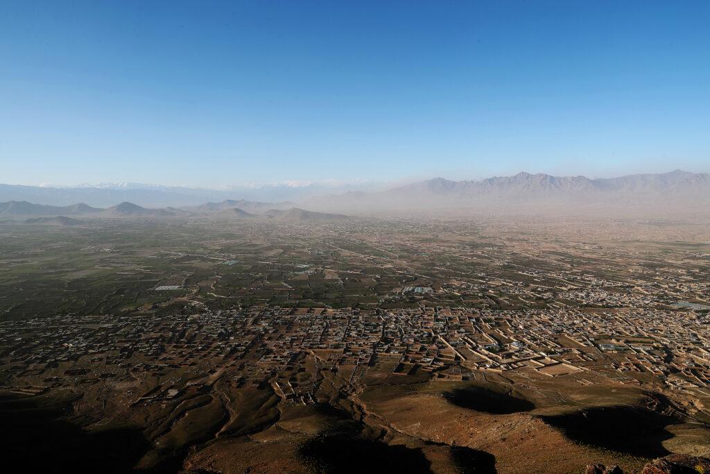 Flyfoto av Kabul, Afghanistan. Foto: Torbjørn Kjosvold / Forsvaret