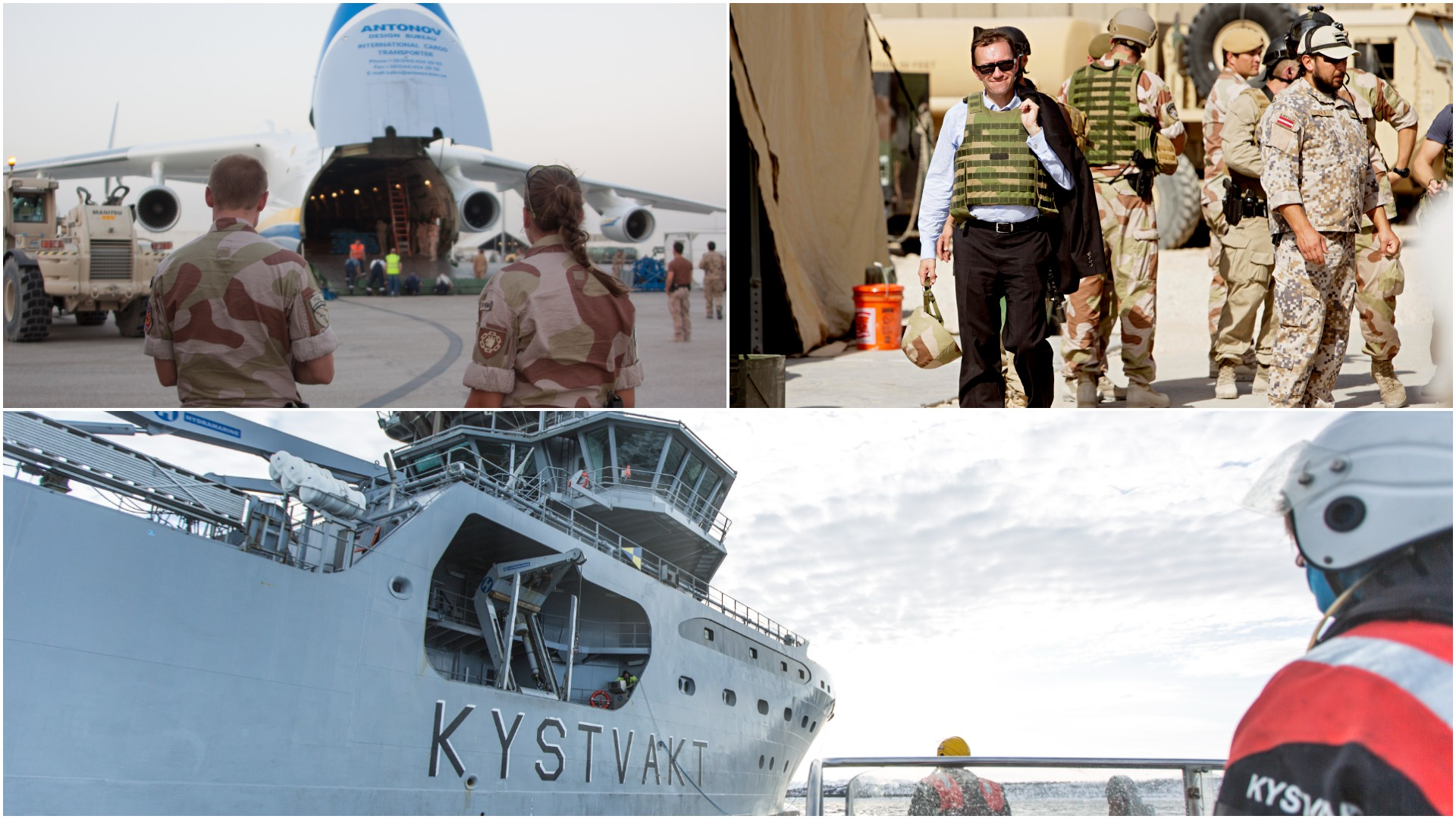 Foto øverst til venstre: Aleksander Hage / Forsvaret. Foto øverst til høyre: Stian Lysberg Solum. Foto nederst: Christina Gjertsen / Forsvaret.