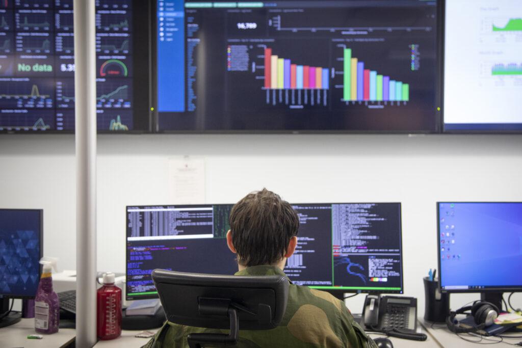 Cybersikkerhetssenteret (CSS), Cyberforsvaret på Jørstadmoen. Foto: Anette Ask/Forsvaret.